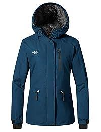 Wantdo Women's Ski Jacket Windproof Waterproof Fleece Winter Coat with Hood