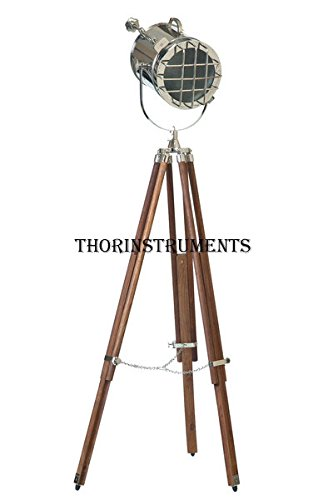 Movie Shoot Solid Steel Spot Searchlight Stage Light Natural Wood Floor Tripod by THORINSTRUMENTS