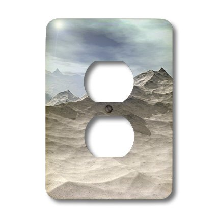 3dRose lsp_18438_6 World ice and Snow Frozen Baron Tundra of This Fantasy Landscape Outlet Cover
