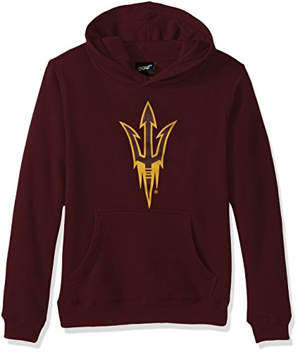 Outerstuff NCAA Kids & Youth Boys Primary Logo Fleece Hoodie, Classic Maroon, Youth Large(14-16)