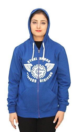 Romano - Sweat-shirt - Relaxed - Uni - Manches Longues - Femme Bleu Bleu