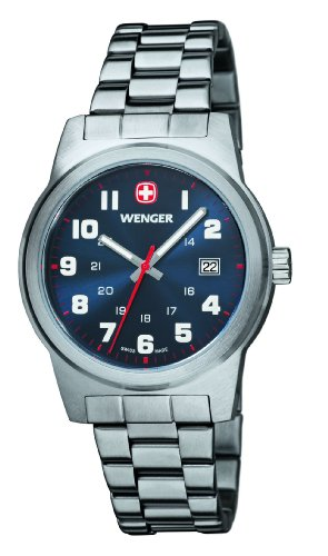 Wenger 01.0441.101 - Men's Watch, Stainless Steel, Silver Color