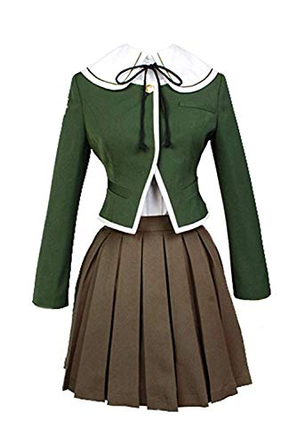 Ya-cos Halloween Women's Danganronpa Chihiro Fujisaki Cosplay Costume Full Set,As -