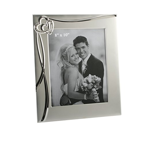 (Oaktree Gifts 3D Waves & 2 Hearts Photo Frame 8 x 10)