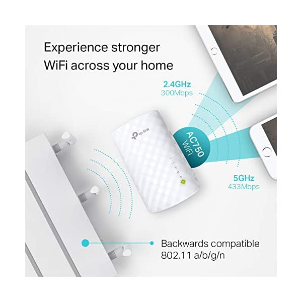 TP-Link | AC750 WiFi Range Extender - Dual Band Cloud App Control | 2019  Release | Up to 750Mbps | One Button Setup Repeater, Internet Booster,  Access