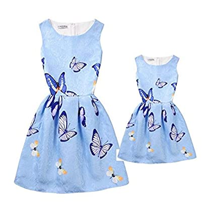 44265a974b6f2 Summer Mother Daughter Dresses 1 PCS Mum and Me Sleeveless Dress ...