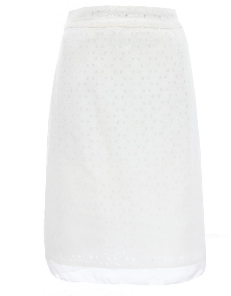 Jones New York Women's Sagaponack Ivory Cotton Pencil Skirt in White 12