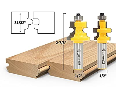 Yonico 2 Bit Tongue and Groove Flooring Router Bit Set
