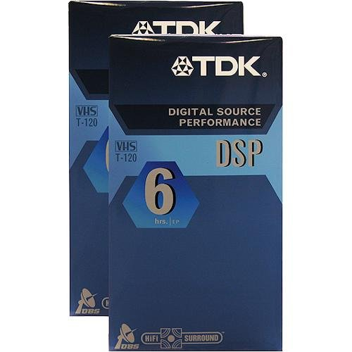 TDK 2 Pack DSP T-120 Video Tape