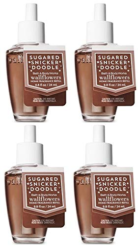 Bath and Body Work Sugared Snickerdoodle ウォールフラワー フレグランス リフィル 0.8オンス。 4セット。 B07K7VWLPY