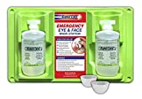 Rapid Care First Aid 8000 Eye Wash Station, 2 x 16 Oz Sterile Isotonic Eye Wash Bottles with 2 Bonus Reusable Eye Cups