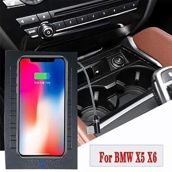 Para BMW X5 X6 2014-2019】 Cargador inalámbrico para coche ...
