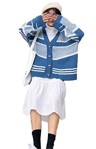 (ジュンィ) レディース ニットカーディガン セーター 羽織り 前開き 長袖 秋冬 体型カバー きれいめ