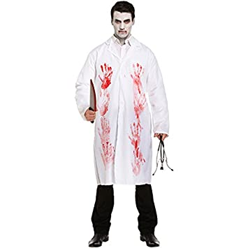 Mens bloody dead zombie doctor halloween horror fancy dress costume mens bloody dead zombie doctor halloween horror fancy dress costume outfit solutioingenieria Images