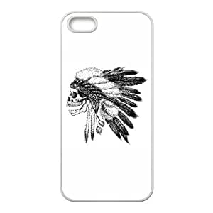 iPhone 5 5s Cell Phone Case White Native American ECU Hard Personalized Case