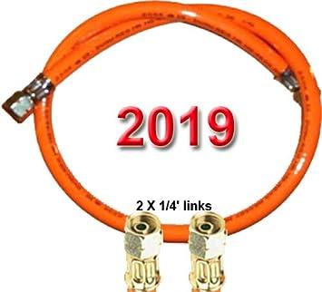 per filettatura esterna con ca. 12-13 mm Tubo gas 2 X 1//4 sinistra PVC Standard con stampa 2017 40 cm