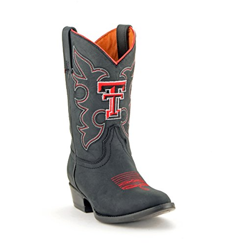 NCAA Texas Tech Red Raiders Boys Gameday Boots, Black, 12.5 by Gameday Boots