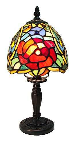 """Fine Art Lighting T611 Tiffany Table Lamp, 183 Glass Cuts, Mini, 6 by 12.5"""""""
