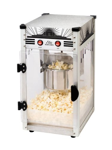 Maxi-Matic EPM-250SS 2.5-Ounce Kettle Popcorn Popper Machine, Stainless Steel