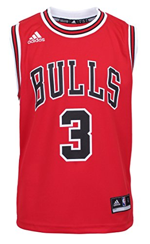 NBA Chicago Bulls Dwyane Wade Youth 8-20 Replica Road Jersey Red (Red, Small (8))
