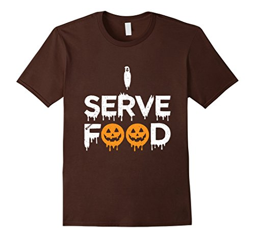 Mens This Is My Server Costume Shirt Gift | Funny Waitress Tee 2XL Brown
