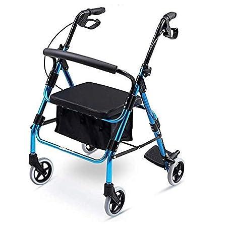 Folding Walker YX Andador Plegable, Andador con Ruedas de Cuatro ...