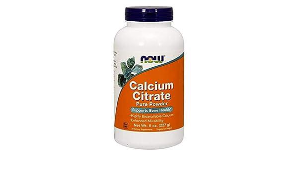 El citrato de calcio, 100% puro en polvo, a 8 oz (227 g) - Now Foods: Amazon.es: Salud y cuidado personal