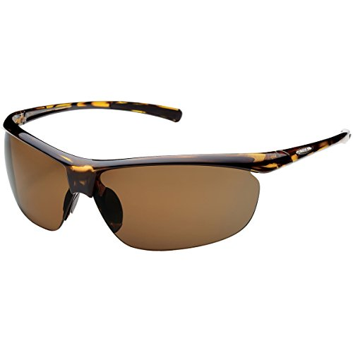 (Suncloud Optics Zephyr Rimless Frames Polarized Designer Sunglasses - Tortoise/Brown / One Size Fits All)