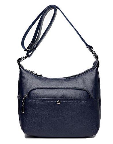 Casual Cross Blue Tsmbh180984 Zippers Pu Handbags Women Aalardom Pants Fashion 0Egpq