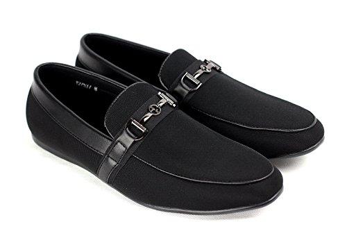 CABALLEROS Zapatos SIN CIERRES Inteligente Conducción Mocasín Negro