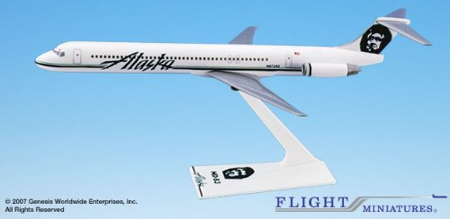 200 Alaska Airlines (Flight Miniatures Alaska Airlines McDonnell Douglas MD-83 1:200 Scale)