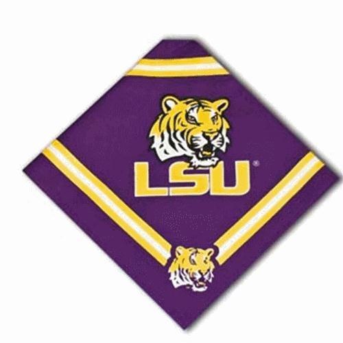 Collegiate LSU Tigers Pet Bandana, Small - Dog Bandana must-have for Birthdays, Parties, Sports Games etc..