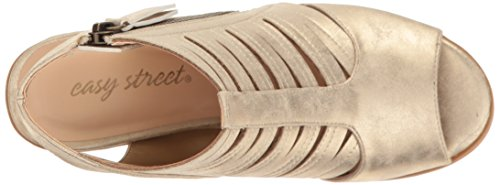 Sandalo Con Tacco Basso Donna Karlie Oro / Metallico