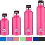 Gulp Bliss Sports Water Bottle Narrow Mouth (Cotton Candy Pink, 12oz)