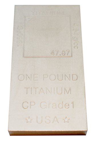 Titanium Bar Paperweight - 1lb Bar 999 Pure Chemistry Element Design by Metallum Gifts by Metallum Gifts