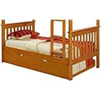 Bunk Bed Kingdom Roll Out Trundle, Twin, Honey