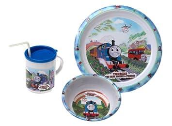 Thomas u0026 Friends - 3 Piece Dinnerware Set- Pecoware  sc 1 st  Amazon.com & Amazon.com : Thomas u0026 Friends - 3 Piece Dinnerware Set- Pecoware ...