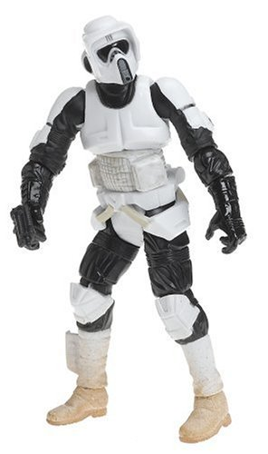 Star Wars, The Saga Colllection, Vintage Action Figure Biker Scout, 3.75 Inches