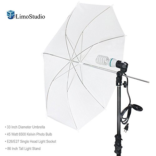 LimoStudio Photography White Photo Umbrella Light Lighting Kit, AGG1754 (Light Photo)