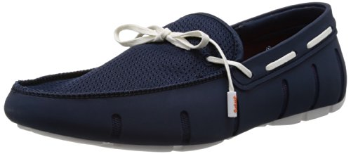Swims Mens Lace Loafer - Mocasines de caucho para hombre Azul (Blau (Navy/White))