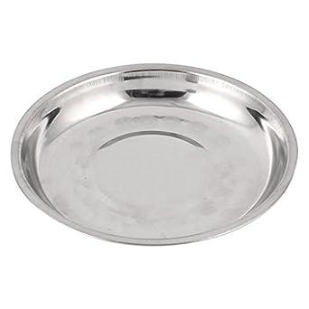 Uxcell a15061800ux0146 - Plato de acero inoxidable (15 cm)