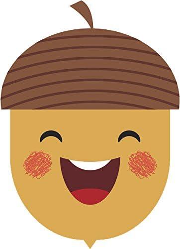Amazon Com Adorable Cute Fall Acorn Seed Cartoon Emoji Vinyl Decal Sticker 4 Tall 3 Automotive