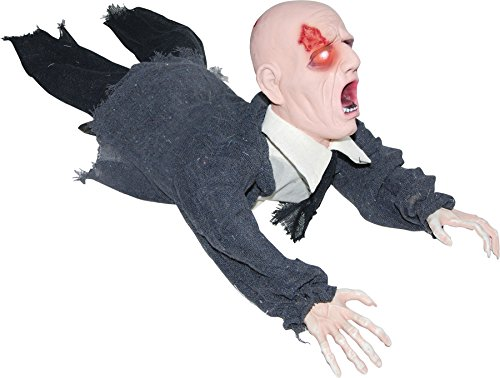 Gemmy (Sun Star) Scary Haunted House Crawling Zombie Animated Decoration Halloween Prop]()