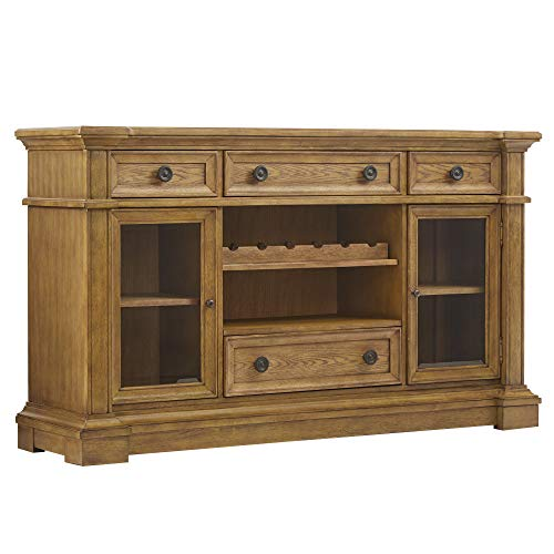 French Antique Buffet - Svitlife Gilderoy Natural Oak Finish Buffet Artisan Buffet Oak Antique Sideboard Cabinet Carved French