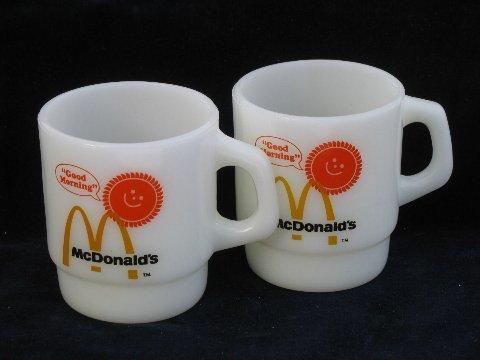(McDonald's Anchor Hocking Fire King Coffee Mug Cup - Set of 2)