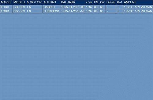 ETS-EXHAUST 5167 Auspuff Auspuffanlage f/ür ESCORT 1.6 CABRIO FLIE/ßHECK 89hp 1995-2001