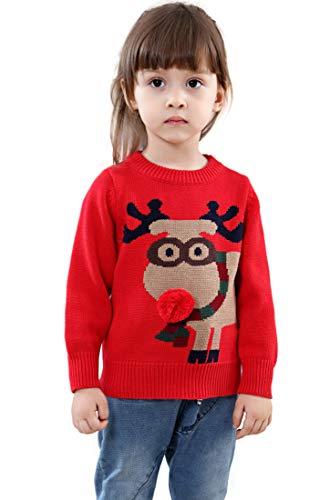 Unisex Kid's Rudolph Reindeer 3d Ugly Christmas Sweater Jumper (5Y) -