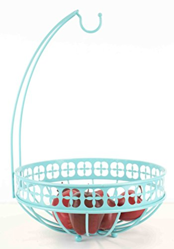 - Home Basics FB47378 Collection Trinity Banana Tree, Turquoise Fruit Basket, One Size,