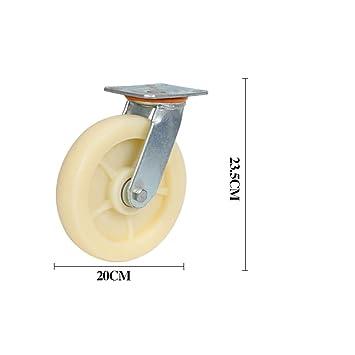 wheel Rueda Universal, Rueda de Nylon para Remolque Resistente, Carro pequeño/Ruedas de Plataforma, Estilo: B; Tamaño: Φ20cm (Cantidad: 4): Amazon.es: Hogar