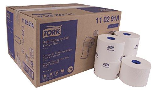 Advanced Bath Tissue - Tork Advanced 110291A High Capacity Bath Tissue Roll, 1-Ply, 3.94